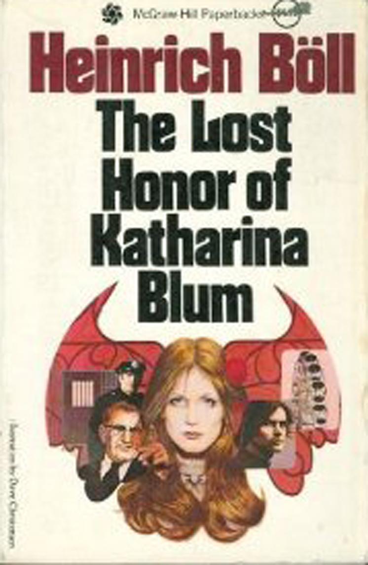 "Image result for Heinrich Boll's ""the Lost honor of Katharina Blum"""
